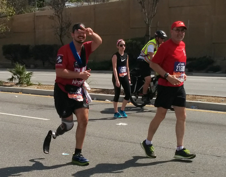Damian running the LA Marathon