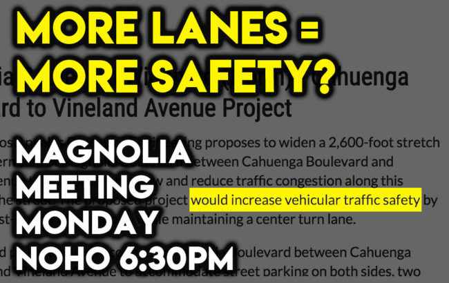 More Lanes = More Safety? Meeting Monday in NoHo - CiclaValley