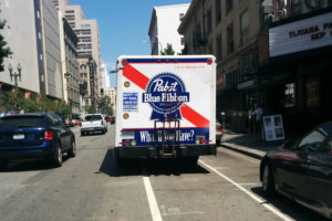 What a hipster way to block a bike lane