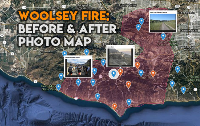 Ciclavia >> Woolsey Fire: Before & After Photo Map - CiclaValley
