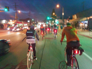 Riding out on Hollywood Blvd.